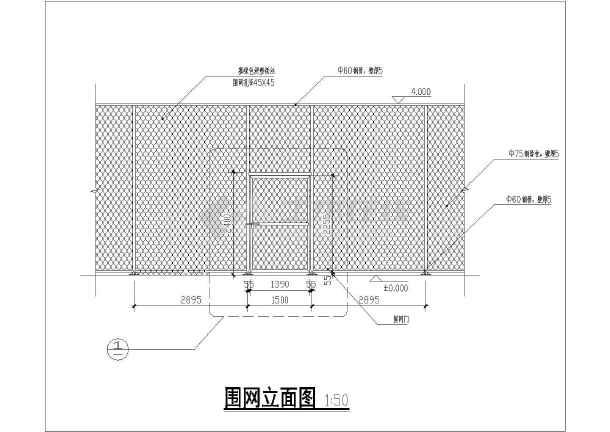 某地沙滩排球场地建筑设计施工总图