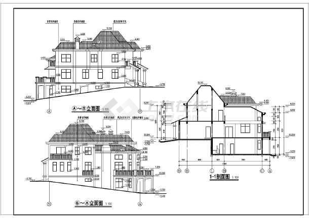 某地区框架结构别墅建筑及结构施工图