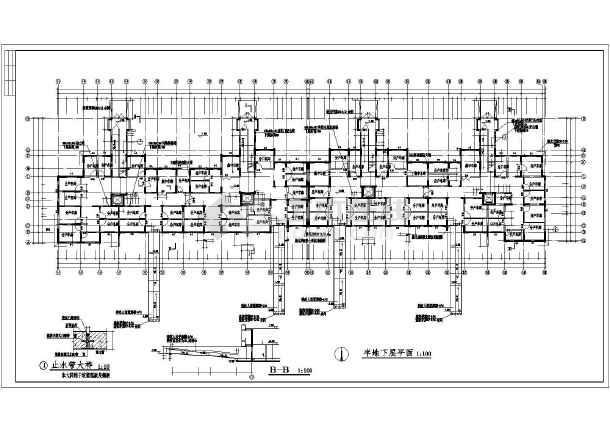 短肢剪力墙结构住宅建筑建设计施图纸