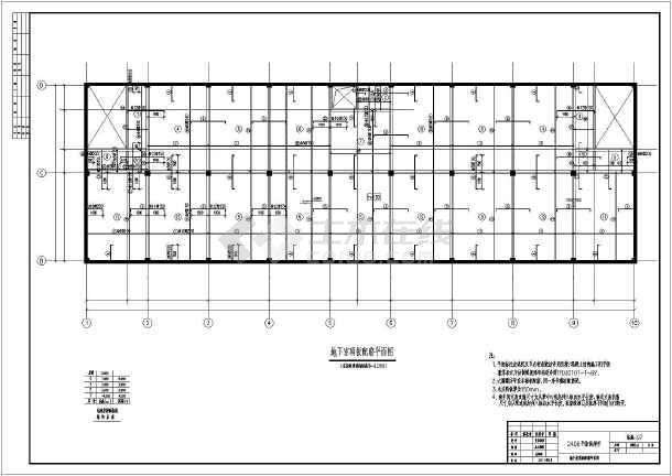 河北2层框架结构超市全套结构施工图