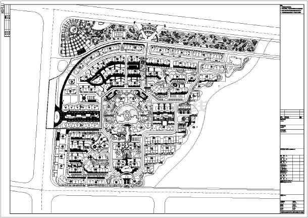 某小区别墅区规划设计总平面布置图
