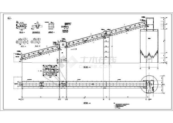 上煤场皮带钢结构桁架栈桥施工图纸