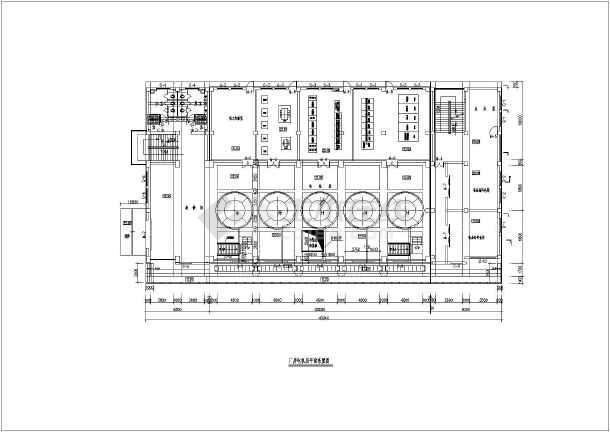 典型泵站平面及纵剖面图(共4张)-图1