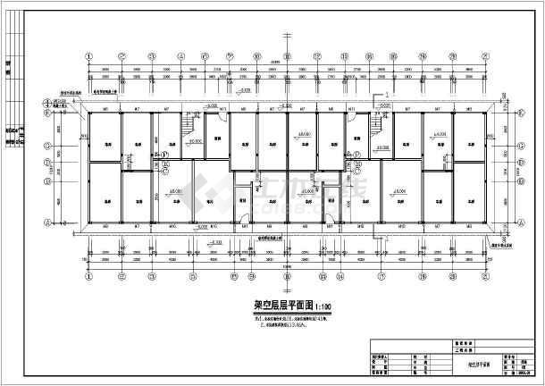 贵州某小区6层住宅楼建筑设计施工图