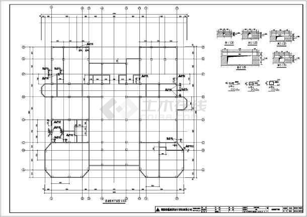 某地区两层半别墅建筑结构设计施工图(含水电暖)