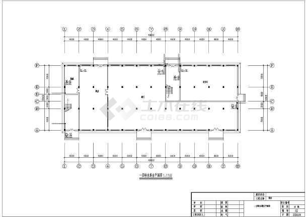 某地多层住宅楼给排水设计cad图纸-图1