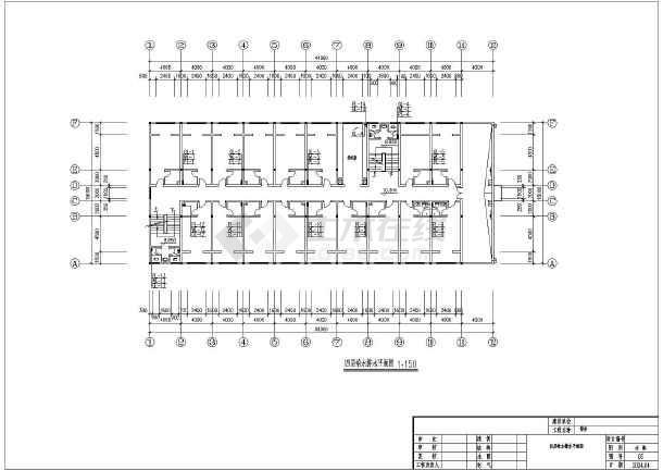 某地多层住宅楼给排水设计cad图纸-图2