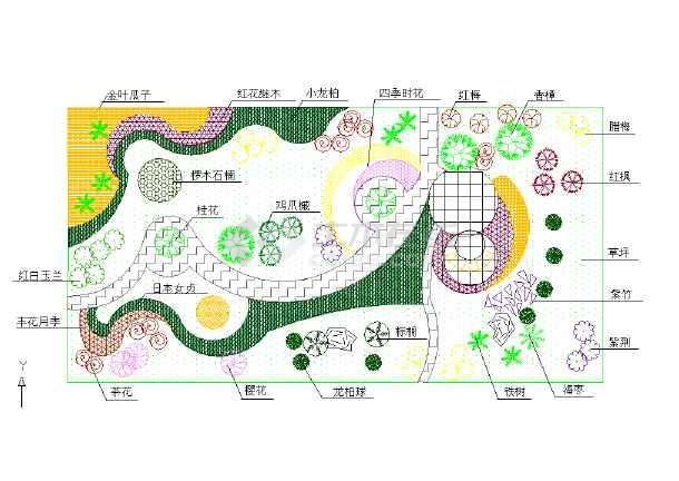 【德清】某厂区植物配置设计图(共一张)图片1