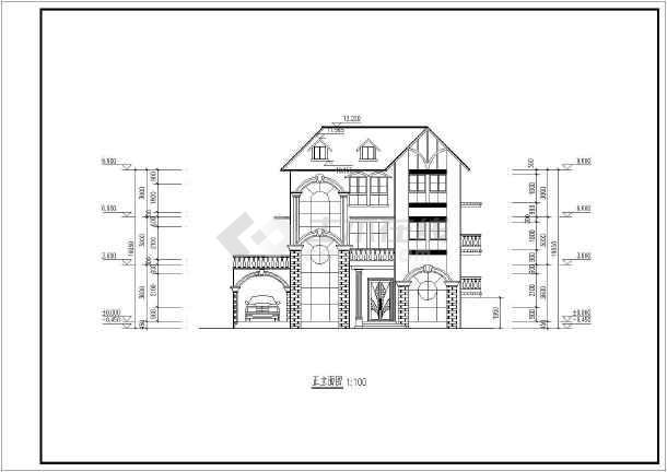 三层长14.10米 宽11.70米农村自建房建筑设计图