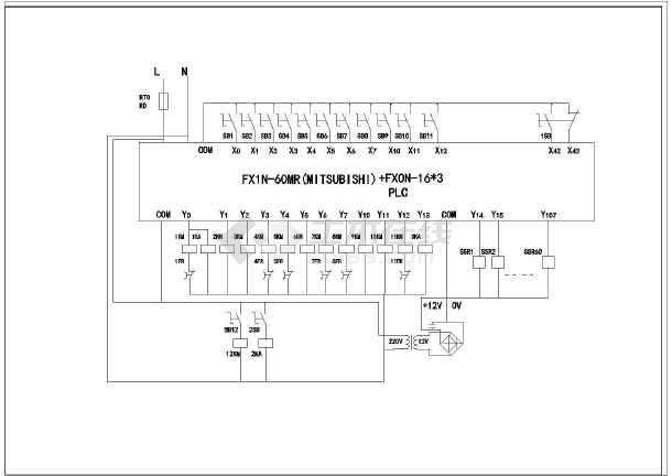 某音乐喷泉电气系统及控制原理接线图