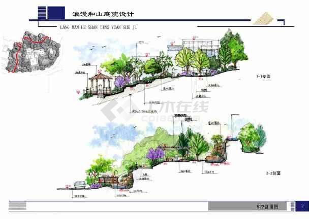 某别墅景观设计(大量手绘)图片2