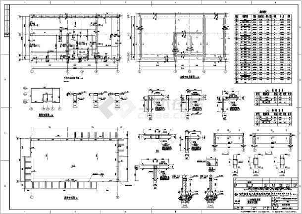某地砖混结构工业厕所结构设计施工图