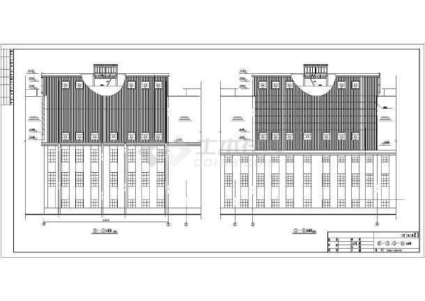 某电厂门式钢架厂房钢结构修改设计图_cad图纸下载