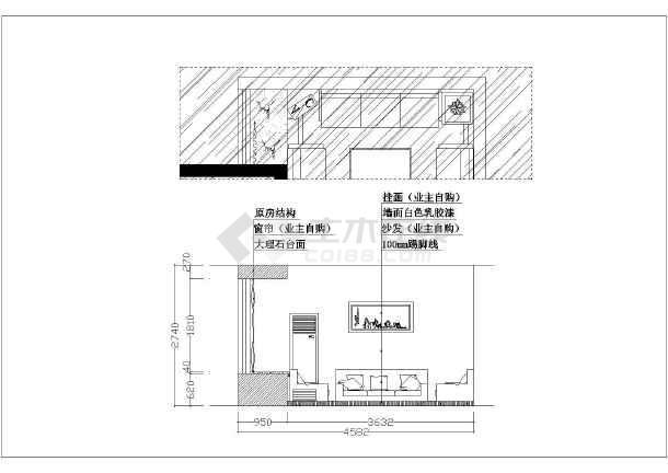 某地剪力墙结构两居室室内装修设计方案图