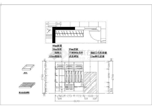 两居室室内装修设计方案图,包括:原始结构图,平面布置图,拆墙平面图