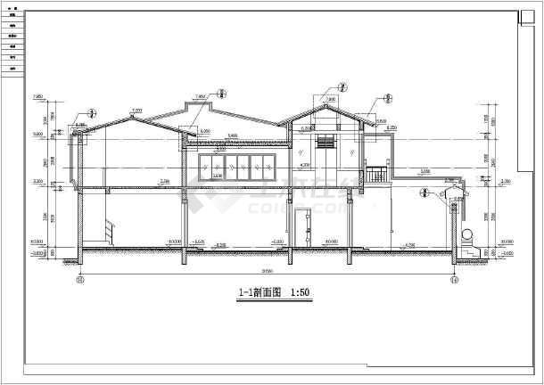 北京某地两层仿古四合院建筑设计方案图
