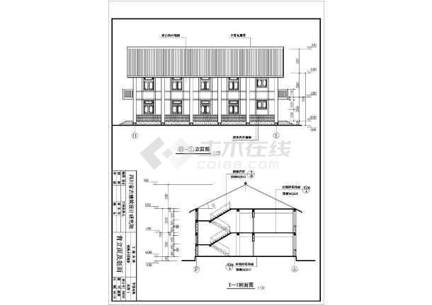 某乡村二层综合酒楼建筑设计方案图