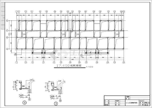 某地6层结构建筑房框架、安置图纸_cad图纸下v结构图纸管道图片