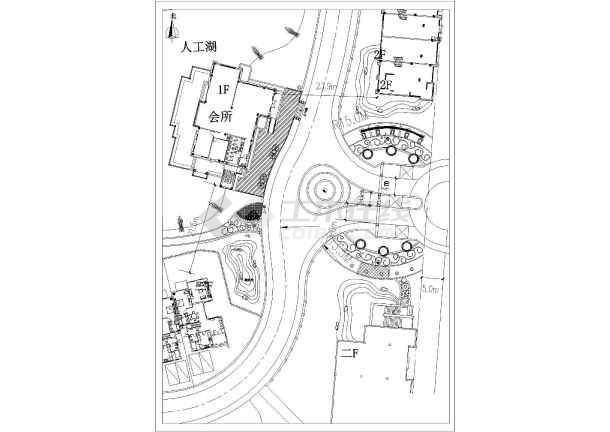 东瑾君山花园小区主出入口景观设计方案图