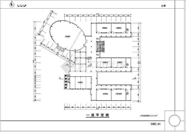 中小学教学楼设计图_dwg建筑图纸