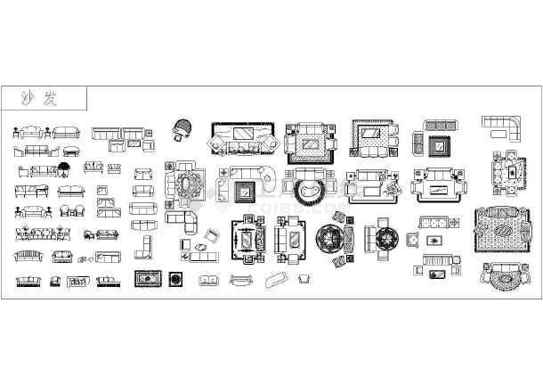 居图纸与议的办公用品家具图例_cad全集下金棘茶图纸图片