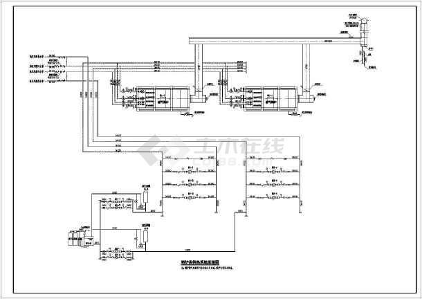 本工程热源为贴建于2#车库的区域锅炉房,锅炉房设计两台燃气热水真空图片