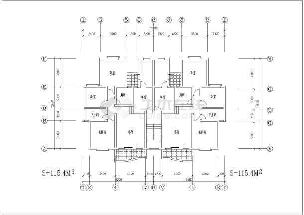 63套经典的一梯两户型多,高层住宅建筑平面图,各户型设计各异,很