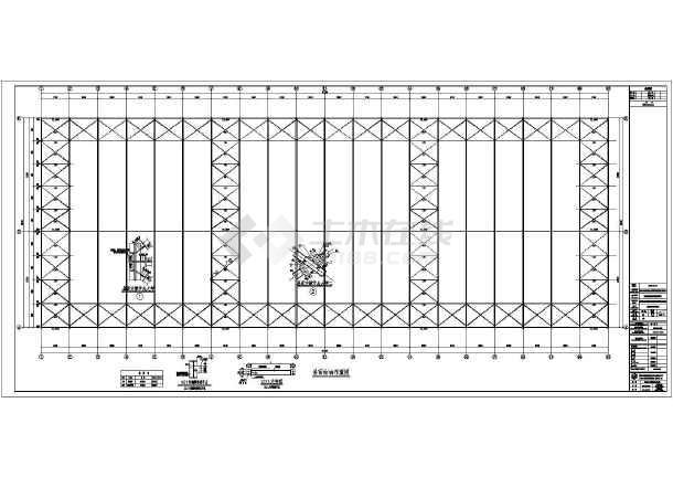 四川省服装钢结构单层图库结构施工图_cad图cad模特全套厂房图片