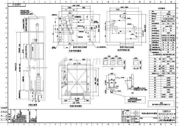 三菱电梯各种类型电梯样本详细图纸