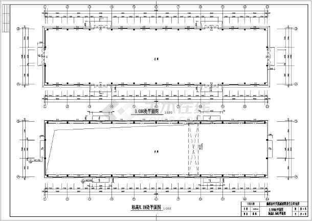 15米跨度带吊车钢结构厂房结构设计施工图
