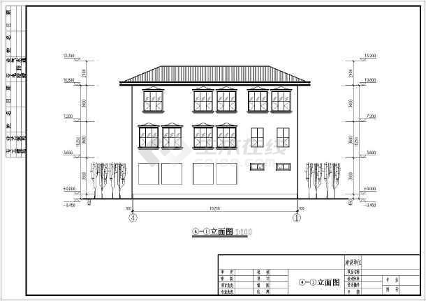 某三层框架别墅坡屋顶建筑,结构施工图(含效果图)