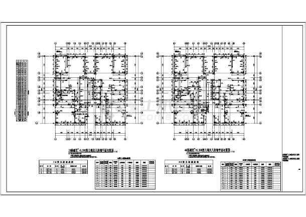 某8度区33层剪力墙图纸图纸施工图_cad住宅下折成将A4结构图片