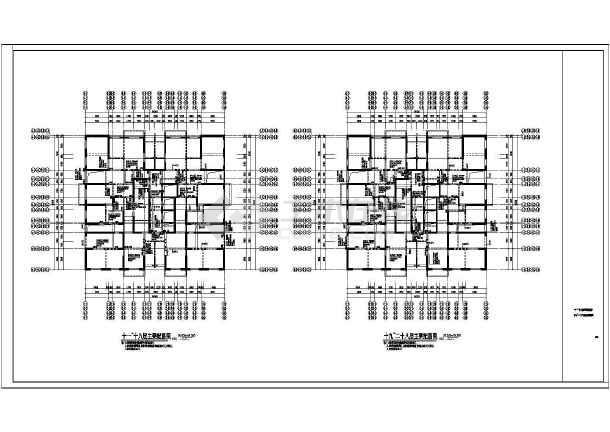 某8度区33层剪力墙住宅结构施工图工地图纸模铝图片