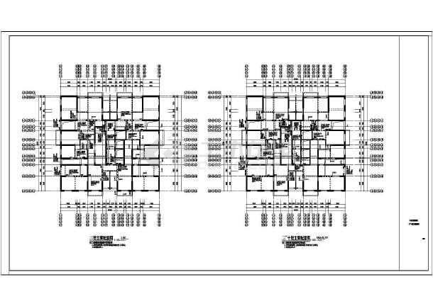 某8度区33层剪力墙结构图纸施工图cad打印v结构住宅a3图片