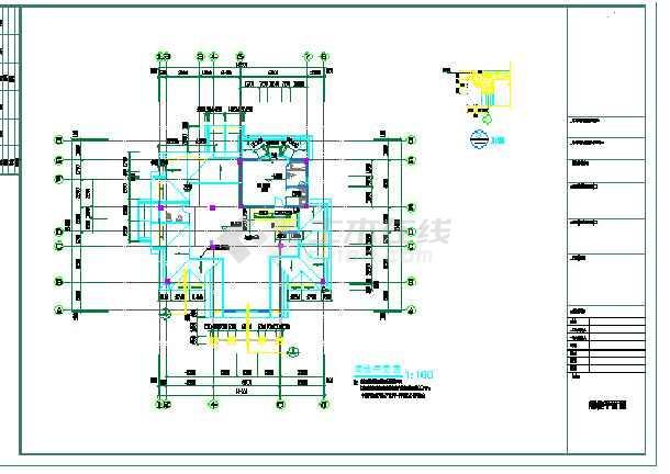 某欧式风格别墅的结构建筑全套图纸