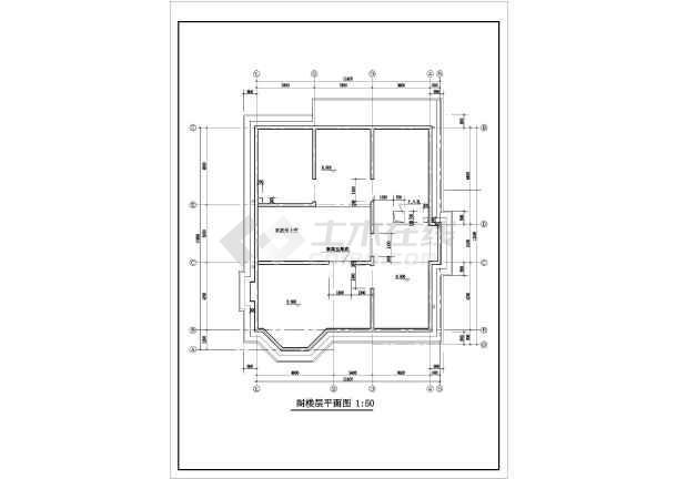 二层带阁楼现代风格住宅楼建筑施工图-图2