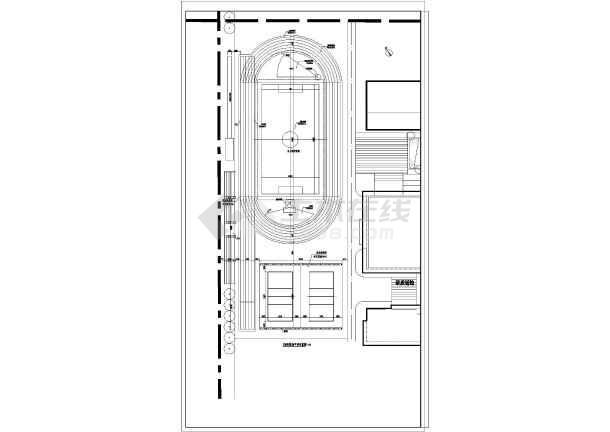 某校200米标准塑胶跑道设计图
