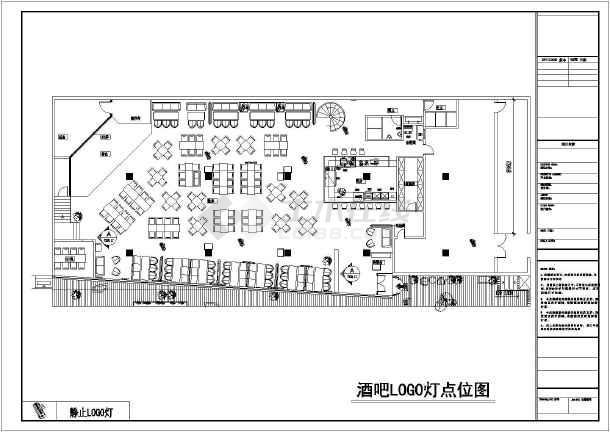 【北京】拉菲图纸舞台灯光酒吧v图纸CAD图_c髋关节的音箱图片