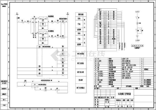 【丽水市】某单位开发电动阀门控制器控制原理图图片