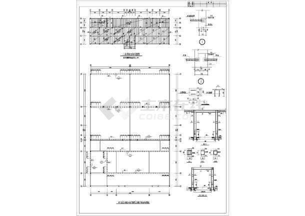 某地区冷库结构设计图纸(含梁钢筋表)图片