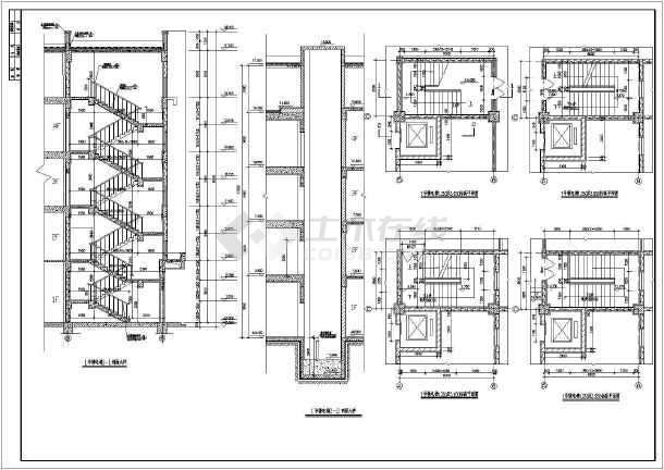 CAD室内设计图块图纸之素材楼梯图纸大样修改船舶设计图片