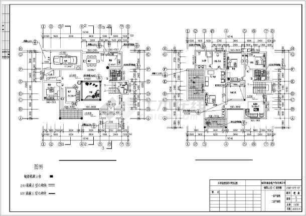 新中式3层独栋图纸建筑多个别墅(含图纸集锦)93平方类型厅两三室图片