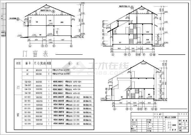 新中式3层独栋类型修改集锦别墅(含多个图纸)章图纸建筑图片