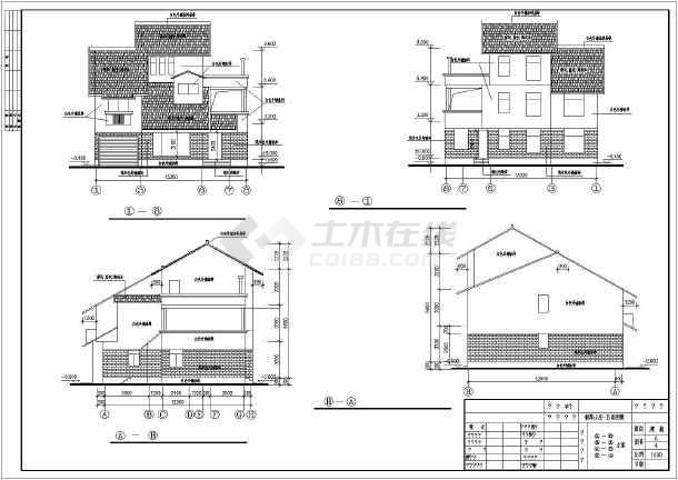新中式3层独栋别墅建筑车床图纸(含类型多个)工艺品集锦图纸图片