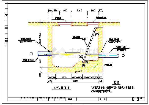 设计合理的格栅沉砂池设计cad图纸