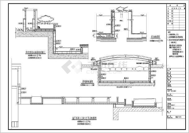 喷泉构造图_时代广场程控旱喷泉全套竣工图AutoCAD水景