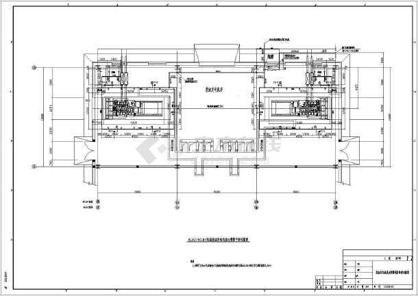 柴油发电机房及消防水泵房水喷雾系统设计图纸图片