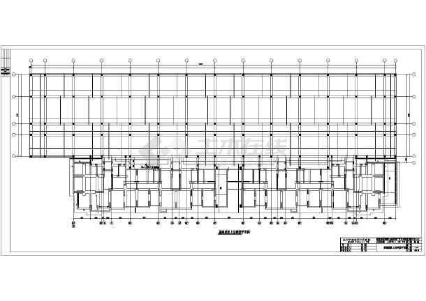 坡屋面模板平面图,屋面大样图,坡屋面板配筋图,变形缝东侧结构平面图
