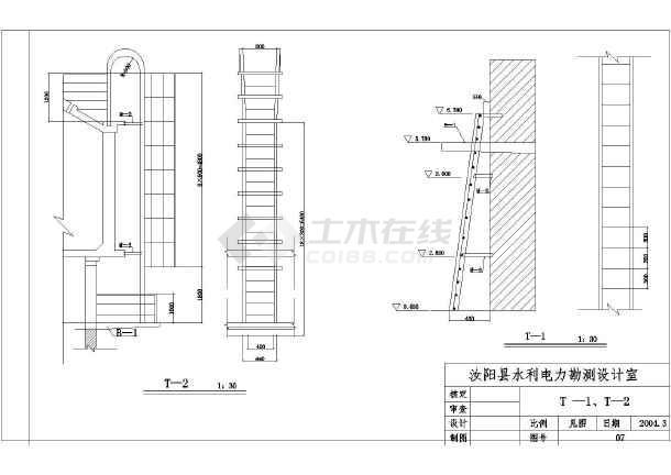 某地区30立方米钢筋结构技术设计图(大样v钢筋cad导水塔柱不比例一样图图片