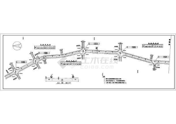 某道路工程结构部分设计施工图(技施施工阶段)